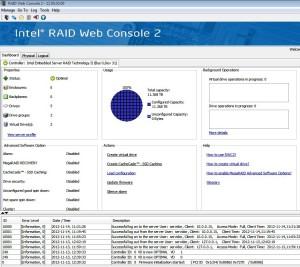Intel RAID Web Console 2