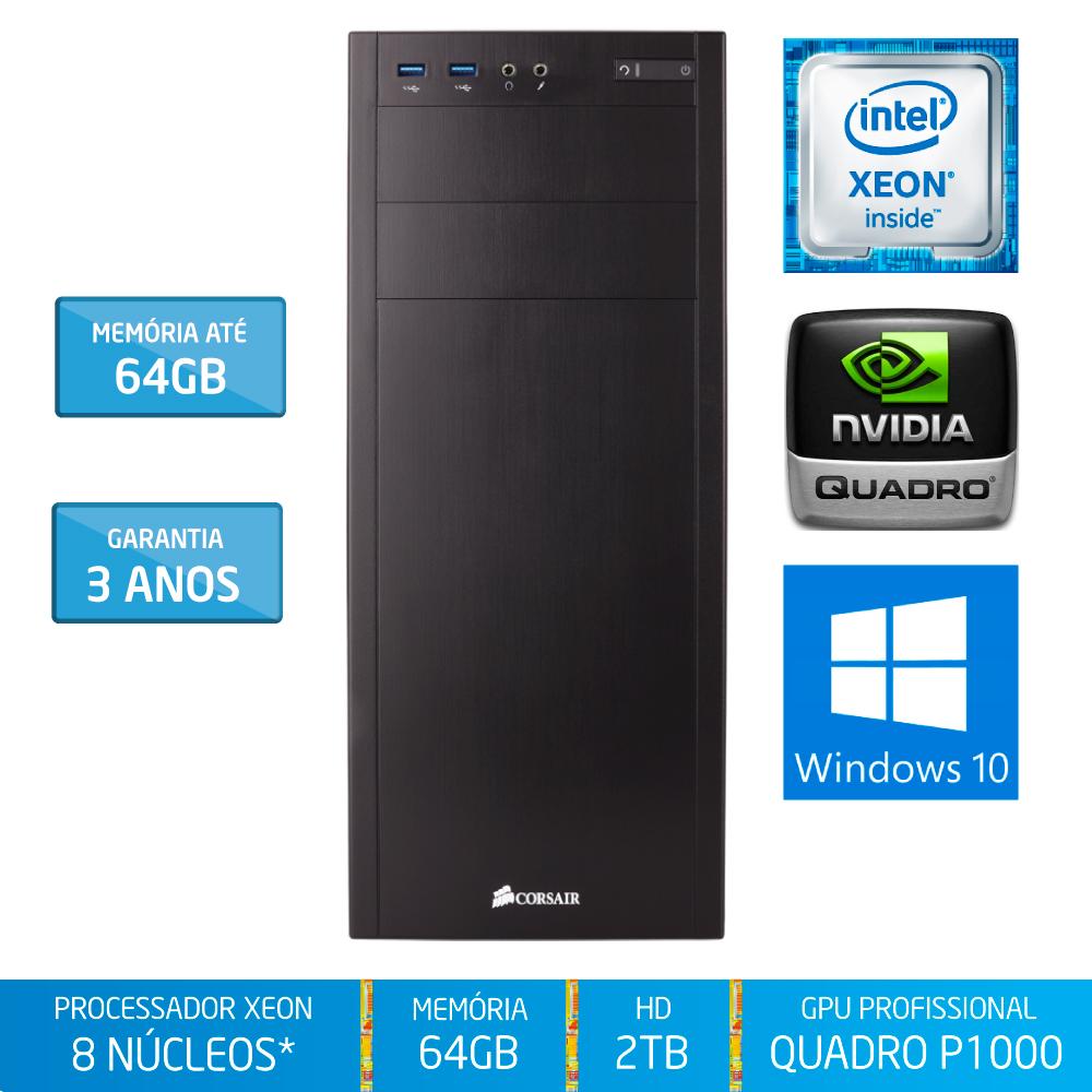 Workstation Silix® 8* Núcleos X1200WK V6 Intel Xeon E3-1230 V6 3.5 GHZ 8 MB / 64GB DDR4 / 2TB SATA3 / DVD-RW / Quadro Pascal P1000 4GB 640 CUDA / Torre / Windows 10 Pro OEM